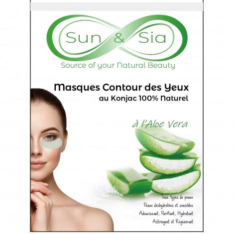 Konjac Eye Contour Mask with Aloe Vera