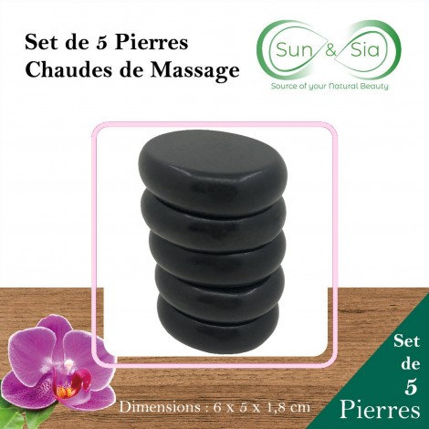 Set of 5 Hot Massage Stones