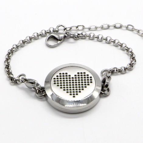 Pixel Heart Aromatherapy bracelet