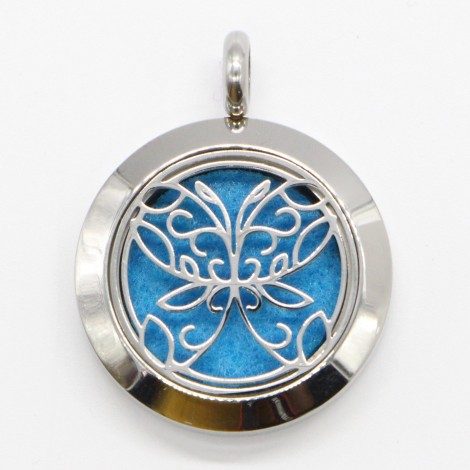 Abstract Butterfly Aromatherapy Necklace