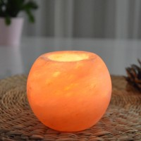 Salt crystal candle holder Himalaya Sphère 900g