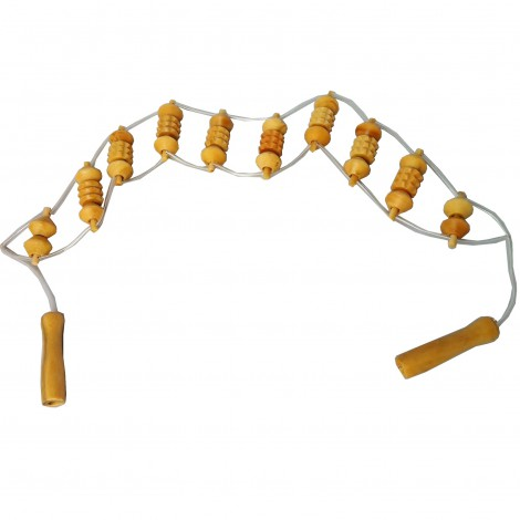 Wooden strip massager