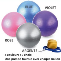 Ballon de Yoga - Taille M 65 cm