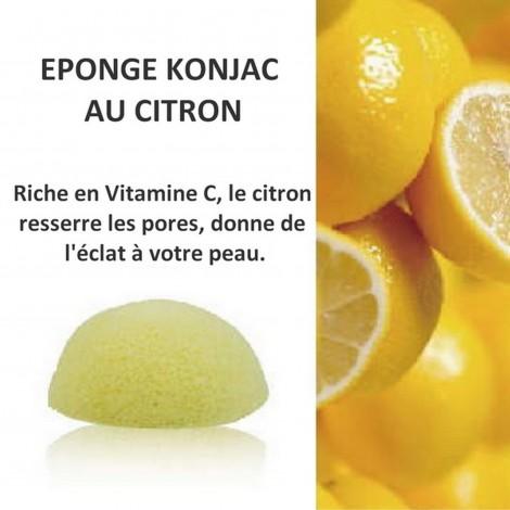 Eponge Konjac au Citron