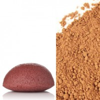 Konjac sponge with Red Clay
