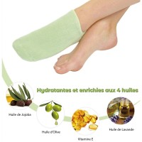 Green Hydrating Spa Socks
